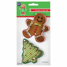 New ! Wilton 2Pc Gingerbread Man and Tree Cookie Cutters Gingerbread Tree Cookie