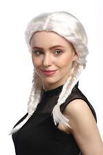 Perruque Pour Femme Carnaval blanc deux Tresses cher tressée