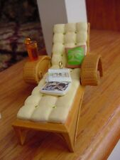 HALLMARK CHAISE Lounge Chair A PERFECT AFTERNOON drink magazines ORNAMENT 2007 w