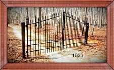 Wrought Iron Driveway Entry Gate 12ft Wide Dual Swing, Beds, Handrails, Gates.