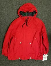 Vtg NWT Mulberry Street Jacket Coat Zip Front Red plaid XL made in Russia