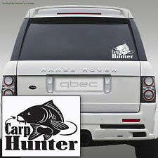 CARP HUNTER pike fishing angler rod spinning car sticker 20cm x 14cm