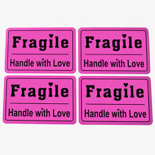 """200pcs 2x3"""" fragile handle with love shipping label custom Self Adhesive sticker"""