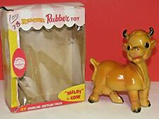 Vintage Rempel Rubber Toy Milky the Cow w Box