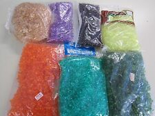 2 LB LOT PLASTIC  TRI BEADS JEWELRY MAKING CRAFTS 3/8""