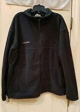Columbia Mens Black Fleece Full Zip Jacket Pull String Waist 2XL XXL NR