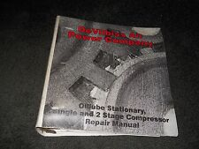 DeVilbiss Air Power Company Oillube Stationary single 2 Compressor Repair manual