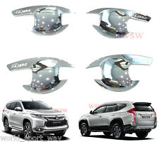 Chrome 4Dr Bowl Housing Handle Cover For Mitsubishi Pajero Montero Sport 2016 17