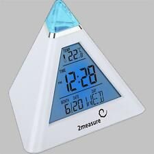 Pyramid Digital Clock Alarm With Snooze Thermometer & Backlight Multi Colours