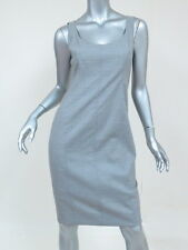 AKRIS Punto Dress Sleeveless Stretch-Wool Scoop Neck Gray Size US 4 New w/ Tags