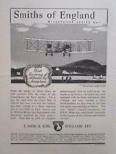 8/1945 PUB SMITHS AIRCRAFT INSTRUMENTS VICKERS VIMY FIRST ATLANTIC CROSSING AD