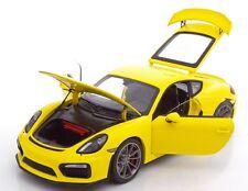 SCHUCO 1/18 Porsche Cayman GT4 2015 Yellow Ref 450040000