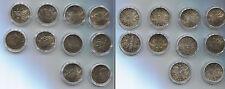 Österreich Sammlung 10 x 2 Schilling-Gedenkmünzen 1928-37 komplett RAR (M00477)