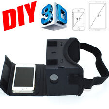 Google DIY Cardboard VR Viewer 3D Glasses For iphone 5s 6 s plus Samsung Phones