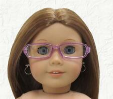 Doll Clothes Glasses Rectangular Purple Plastic Frames Fit 18 inch American Girl