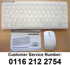 White Wireless MINI Keyboard & Mouse Set for Selected Bluetooth Smart TV's