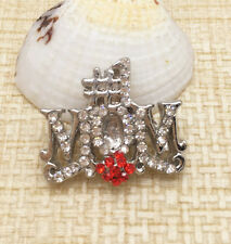 New Rhinestone Drill MOM Charm Chunk Snap Button fit for Noosa Bracelet IPO137
