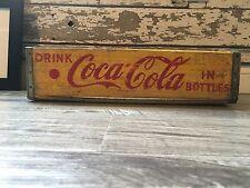 Vintage 1960 Enjoy Coke King Size Coca Cola Wood Soda Pop Case Crate Columbus OH
