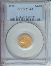 1915 $2.5 Indian Pcgs Ms63 Nice Ms-63 Better Date !
