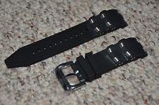 Invicta Pro Diver Scuba Black Poly Rubber Silver Inserts Strap Band Bracelet