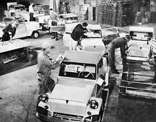 Old Photo. Athens, Ohio. Men on King Midget Assembly Line