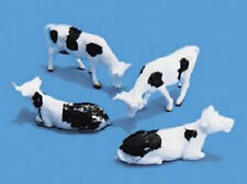 4 cows black & white farm scenery Model Scene 5100  OO HO British