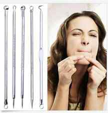 5 x Nobby Pimple Blemish Com5 edone Acne Extractor Remover Tool Needles Set New