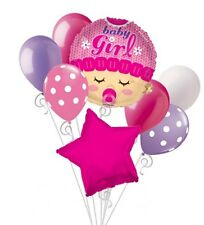 ITS A GIRL Balloons Bouquet Set Pink Baby Shower Balloons Baby Girl Balloons 8pc