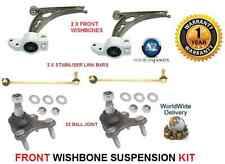 FOR VW CADDY PICK UP 04  2 WISHBONE ARMS 2 LINK BARS 2 BALLJOINT SUSPENSION KIT