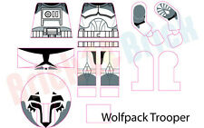 Lego Star Wars Clone Wolfpack Trooper Custom Water Slide Decal