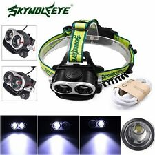20000lm CREE XML T6 5 Modes Zoomable 18650 USB LED Headlamp Headlight Flashlight