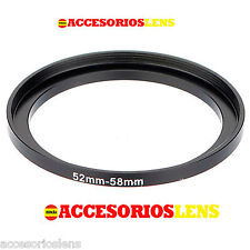 ADATTATORE DA FILTRI da 52 MM A 58 MM Step up