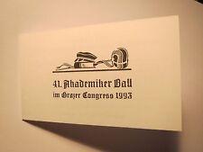 Graz - 41. Akademiker Ball im Grazer Congress 1993 - Einladung / Studentika