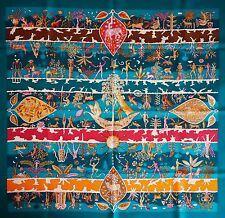 STUNNING HERMES Rives Fertiles SILK SCARF C. Henry Tiger Dog Birds Flowers Sheep