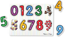 Melissa & Doug SEE INSIDE WOODEN PEG PUZZLE/JIGSAW NUMBERS Toddler Toy/Gift BN