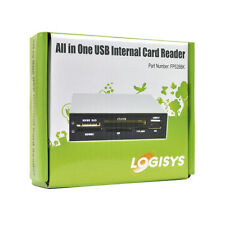 """3.5"""" Logisys FP528BK All-in-One Multifunction Internal Card Reader w/USB 2.0 LED"""