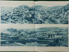 1915 GALLIPOLI PANORAMAS RIVER CLYDE GULLY BEACH ANZAC WWI WW1 DOUBLE PAGE
