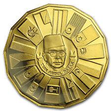 1976 Malaysia Gold 200 Ringgit Third 5-Year Plan Proof - SKU #37366