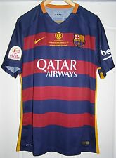 Camiseta Barcelona Copa De Rey 2016 final PLAYER ISSUE match shirt Suarez jersey