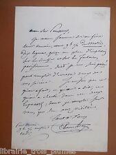 ✒ L.A.S. Etienne ARAGO homme politique écrivain demande impressions sur Lupanars