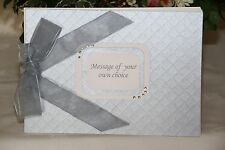 Personalised Silver Pearl Photo Album / Guest Book / Memory Album / Scrapbook