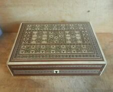 Eastern Tile Inlaid Table / Cigar Box 8""
