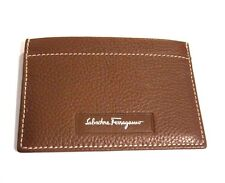 J-1560990 New Salvatore Ferragamo Brown Leather Credit Card Holder