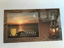 ALDERNEY MNH MINISHEET 2005 ARMS AND SUNSET HOMECOMING EVACUEES WORLD WAR 2