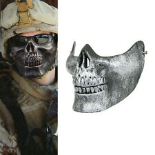 Scary Ghost Skull Skeleton Half Face Mask for Halloween Cosplay Party Costume