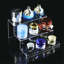 Clear Acrylic 3-tier Steps Display Riser Stand Jewelry Gifts Showcase