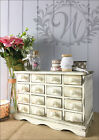 White Vintage Shabby Chic Wooden Trinket Rustic Drawers Storage French Country