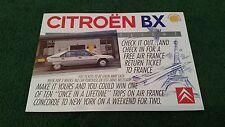 1989 CITROEN BX 14 vuelo especial ganar un vuelo de Air France Concorde Reino Unido Folleto