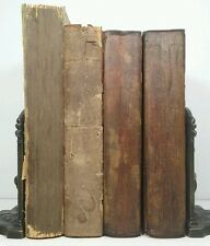 1893~GEORGE ELIOT~Antique Brown 4 Book Set~Old Decor Distressed Lot~ANTIQUARY