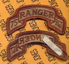 US ARMY 75th Infantry Airborne Ranger Regiment Desert DCU scroll patch m/e